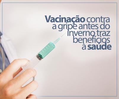 Imagem notícia Vacinação contra a gripe antes do inverno traz benefícios à saúde