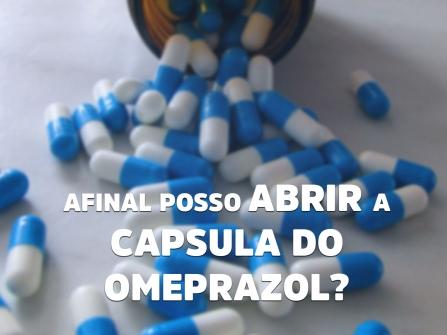 Imagem notícia Afinal, posso abrir a cápsula de omeprazol?