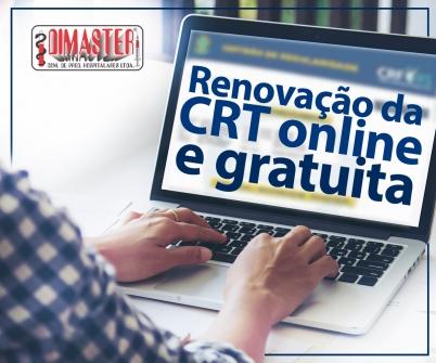 Imagem notícia Renovação da CRT online e gratuita